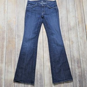 7 for All Mankind Size 28 Boot Cut Dark Wash Jeans
